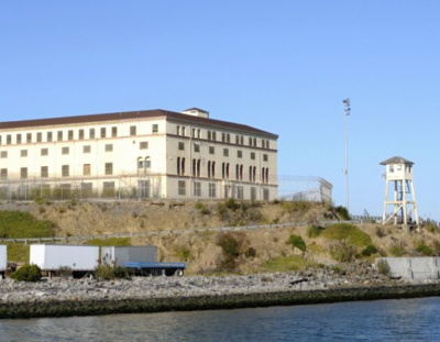 San Quentin as viewed from the water.